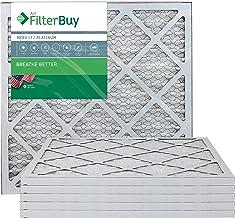 FilterBuy 20x20x1 MERV 13 Pleated AC Furnace Air Filter, (Pack of 6 Filters), 20x20x1 – Platinum