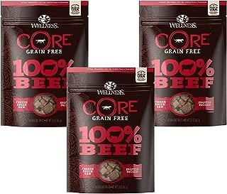 (3 Pack) Wellness 2 oz Dog Core 100% Beef Snack Freeze Dried Treats