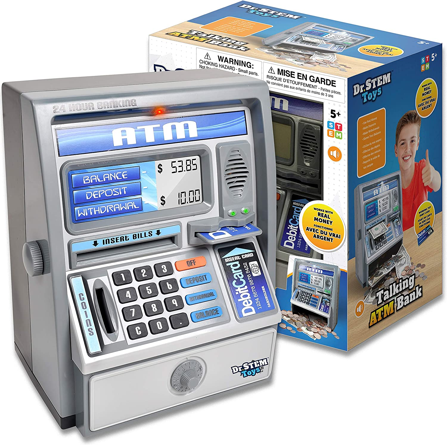 Dr. STEM Toys Kids Talking ATM D Same day shipping free shipping Bank with Piggy Machine Savings