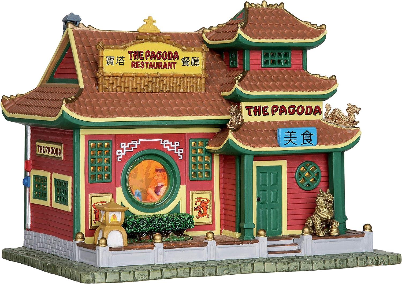 Lemax 25373 Pagoda Restaurant Lighted Building Village Christmas New product type Arlington Mall