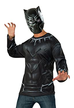 Captain America: Civil War Black Panther Costume Top and Mask