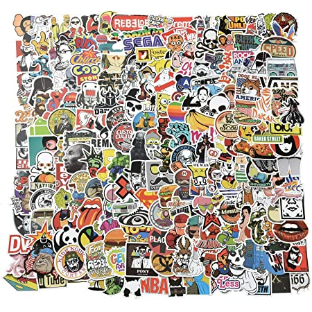 Willingood Aufkleber 200 Stück Wasserdicht Vinyl Stickers Graffiti Style Decals Für Auto Motorräder Fahrrad Skateboard Snowboard Gepäck Laptop Aufkleber Macbook Ipad Und Mehr Küche Haushalt