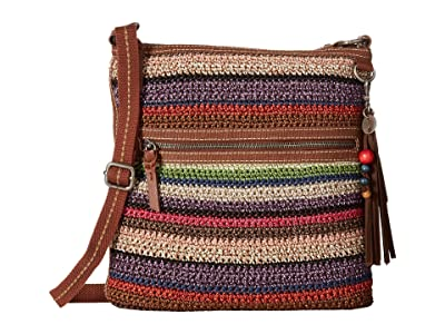 The Sak Lucia Crochet Crossbody (Vagabond Stripe) Cross Body Handbags