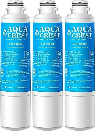 AQUACREST Replacement DA29-00020B Refrigerator Water Filter, Compatible with Samsung DA29-00020B, DA29-00020A, HAF-CIN/EXP, 46-9101 Water Filter (Pack of 3)