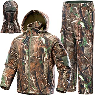NEW VIEW Upgraded Hunting Clothes for Men,Silent Water...