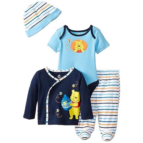 a2ecb5b6daab Disney Baby Boys  Winnie The Pooh 4 Piece Gift Set