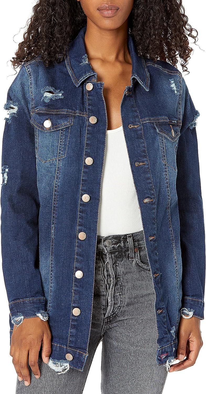 dollhouse Women's Oversized Denim Jacket