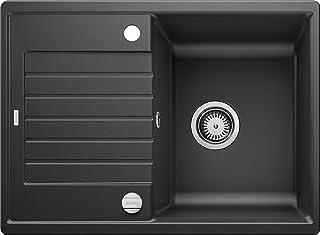 BLANCO ZIA 45 S Compact – Rechteckige Granitspüle aus SILGRANIT für 45 cm breite Unterschränke mit verkürzter Abtropffläche – grau – 524711