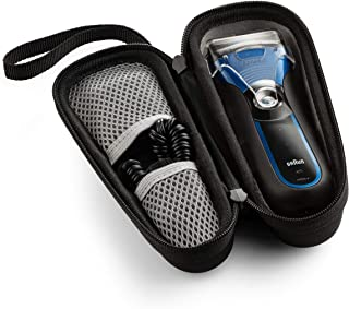 Caseling Hard Case Fits Braun Electric Shaver, Series 3 ProSkin 3040s 3010 340S-4 3050 390CC-4 380S-4 - with Easy Grip Carry Strap and Double Zipper to Protect Your Device (Fits Shaver)