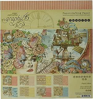 Graphic 45 4501716 Imagine 8x8 Pad Craft Paper, Multi