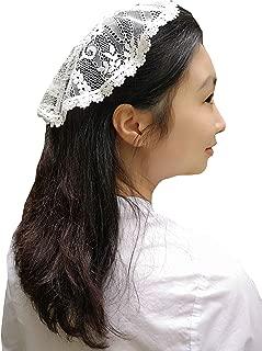 FANFAN Oval lace Lace Headband Soft Headwrap Head Covering Y059