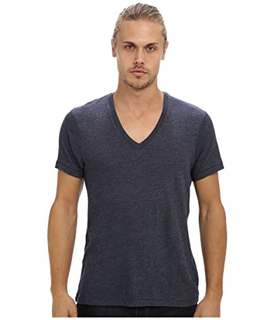 Alternative Boss V-Neck Tee (Eco True Navy) Men