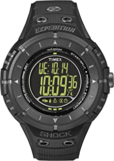 Timex Sport and Outdoor Men's Digital Watch with Black Dial Digital Display and Black Resin Strap T49928SU
