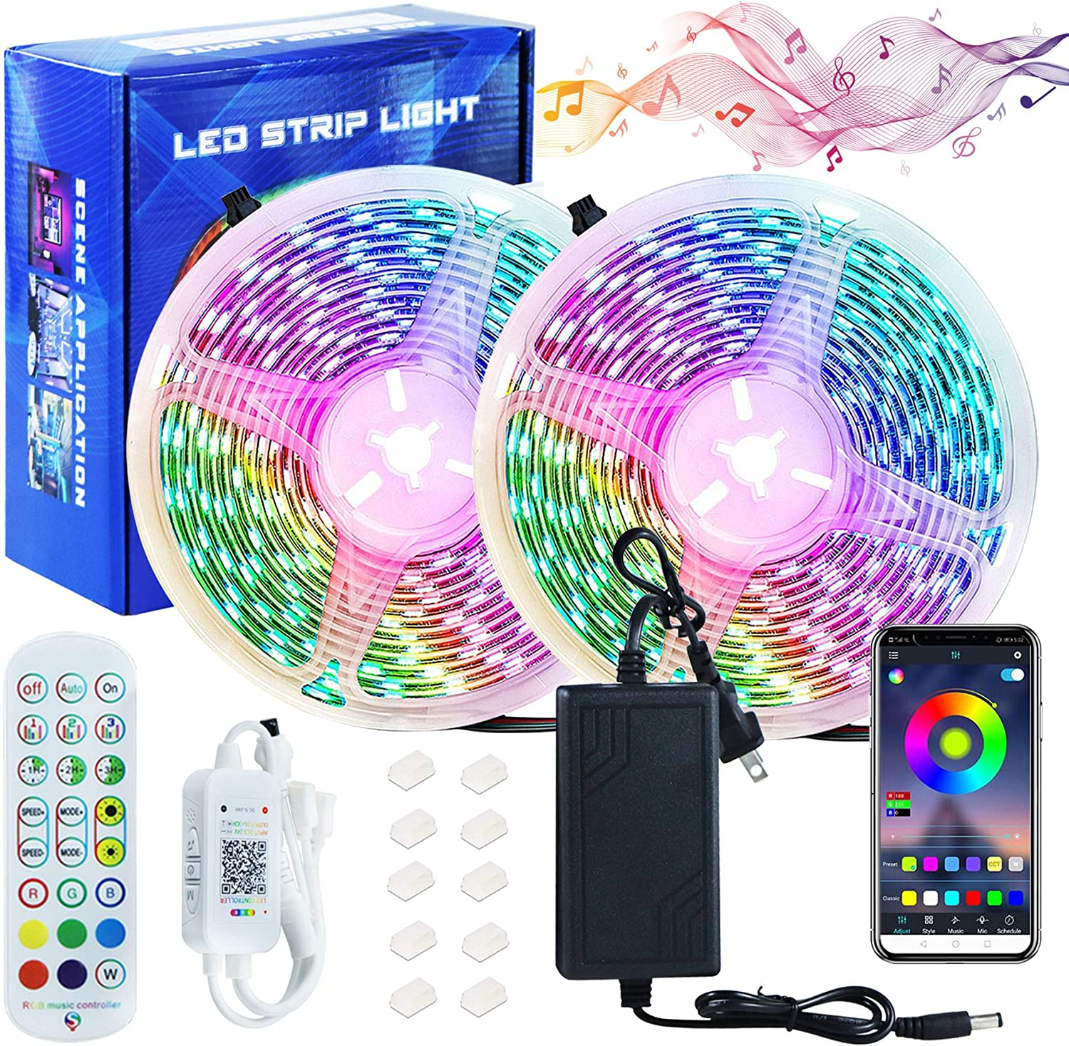 32.8ft free shipping RGB We OFFer at cheap prices Led Strip Lights Bluetooth Waterpro Outdoor Bedroom