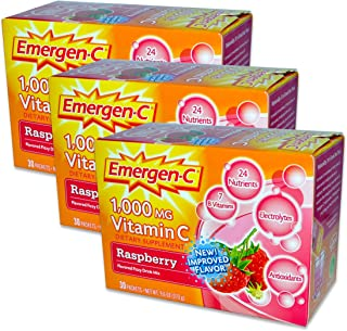 EmergenC, Raspberry, 30 Packets (3 Pack)