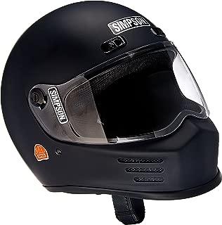 Simpson MSB15L8 Street Bandit Motorcycle Helmet M2015 Large M. Blk