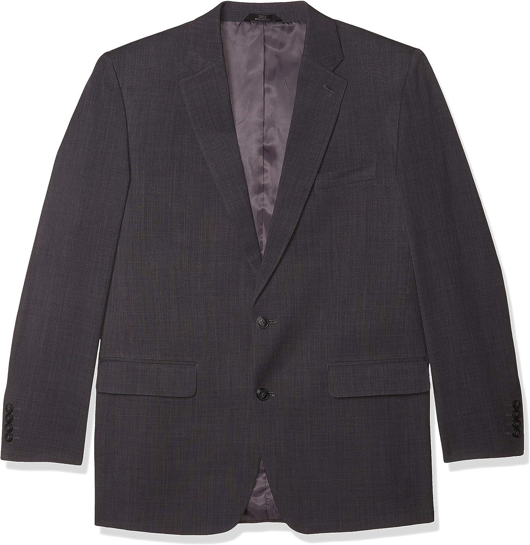 Haggar Men's Travel Performance Stria Gab Tailored Fit 2-Button Suit Separate Coat