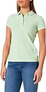 GANT Women's D2. Sunfaded Pique SS Rugger Polo Shirt