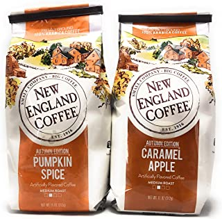 New England Coffee Pumpkin Spice and Caramel Apple Bundle