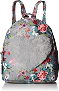 T-Shirt & Jeans Floral Love Backpack in Grey