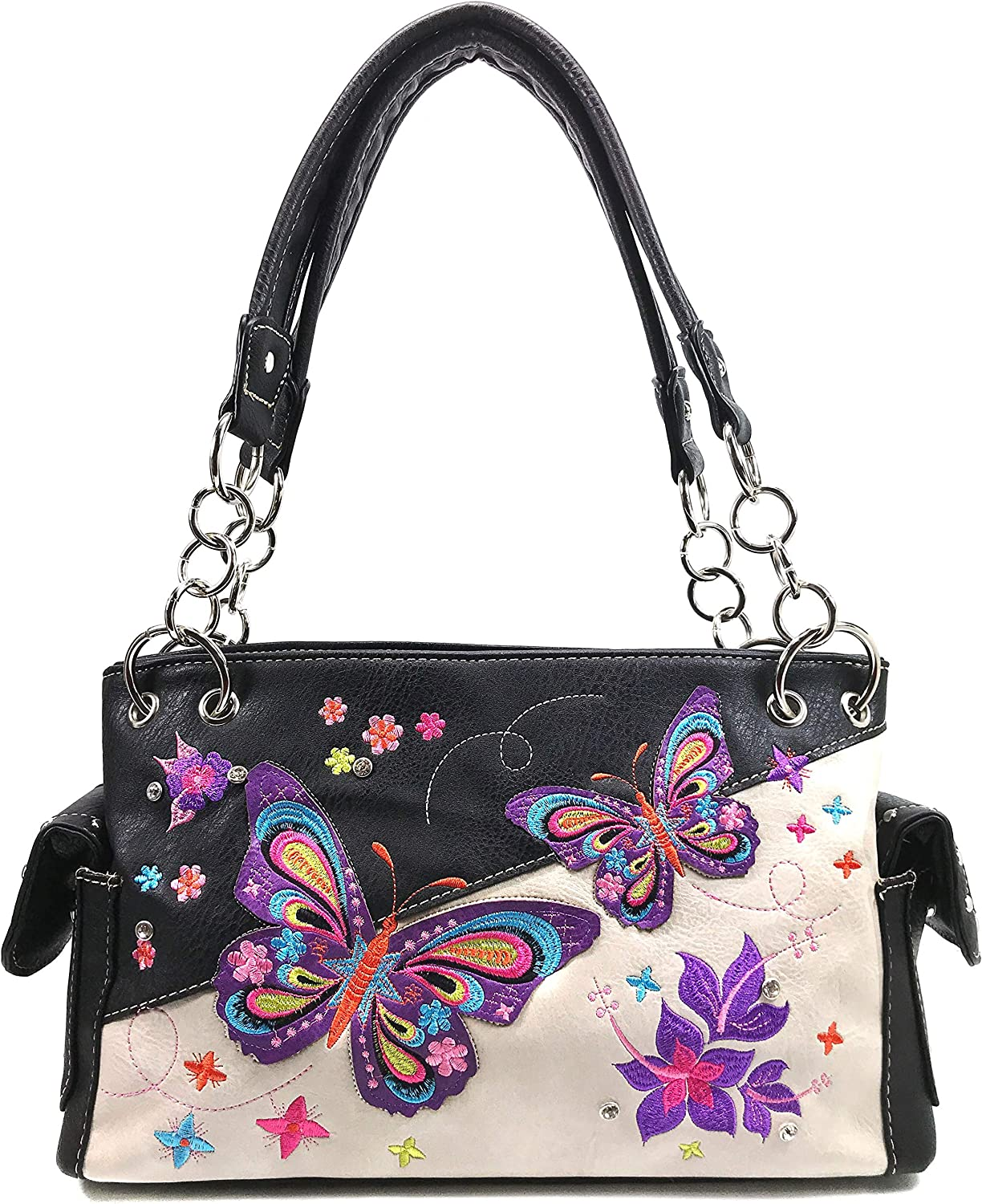Zelris Butterfly Flower Season Dealing full price reduction Embroidery shipfree Conceal Women Carry Sh
