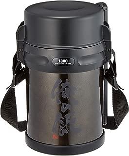 パール金属 保温 弁当箱 ステンレス ランチジャー 1800 ブラック ガッツリ 俺の飯 HB-2692