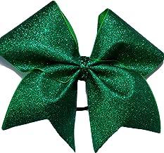 AZBOWS Cheer Bows Green Super Sparkle Glitter Hair Bow