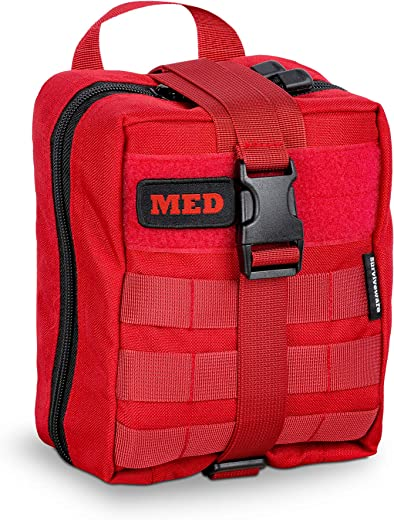 Surviveware Survival Trauma First Aid Kit, Organized and Fully Stocked for Safety in Emergencies