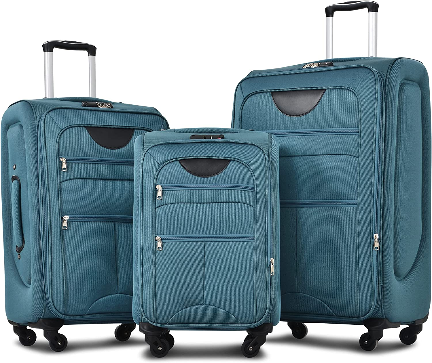 Merax Softside Expandable Luggage Max 49% OFF Softshell Lightweight Sets 3 Max 77% OFF