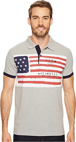 Slim Fit Solid Short Sleeve Pique Polo Shirt