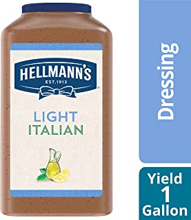 Hellmann's Light Italian Salad Dressing Jug Gluten Free, No Artificial Flavors or High Fructose Corn Syrup, Colors from Natural Sources, 1 gallon, Pack of 4