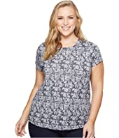 Lucky Brand Plus Size All Over Print Tee