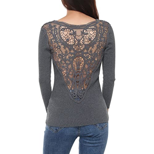Womens Waterfall Cardigan Cardigans Lace Back Tops