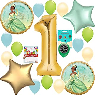 Princess and the Frog Tiana Party Supplies Birthday Decoration Balloon Bundle 1st Birthday