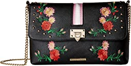 Embroidered Crossbody with Webbing Detail