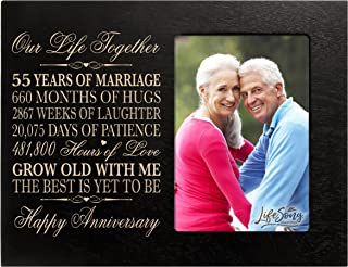 55th Year Wedding for her him Couple 55th Wedding Frame Holds 1 4x6 Photo 8