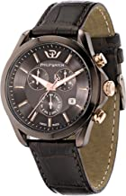 Philip Blaze Men's Quartz Watch with Chronograph Display and Leather Strap, Brown - R8271665003