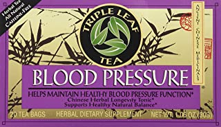 Triple Leaf Tea, Tea Bags, Blood Pressure, 1.06-Ounce Bags, 20-Count Boxes (Pack of 6)