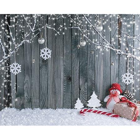 Waw 7x5ft Grey Fotohintergrund Weihnachten Kamera