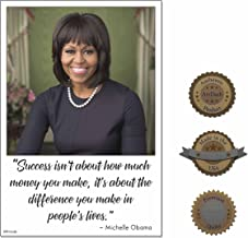 Inspirational Poster Print for Classroom, Home, or Office: MICHELLE OBAMA (Heavy Matte Poster Paper, 13