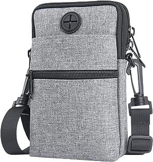 Flintronic Handy-Umhängetasche, Umhängetasche, 3-lagige Messenger-Schulter-Mini-Handtasche, wasserdichte Handytasche, Schl...