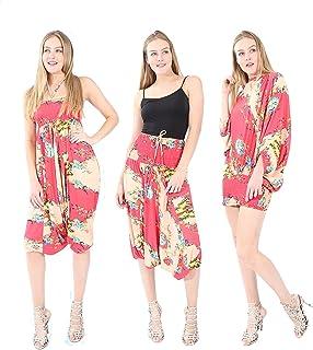 Village Venture 3 en 1 Estampado de Flores con Mariposas (Jumper, Blusa y Pantalón Unitalla -Mod 2925