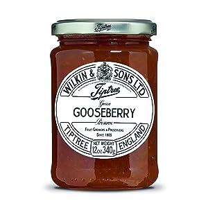 Tiptree Green Gooseberry Preserve, 12 Ounce Jar