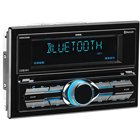 Sound Storm DDML28B or DDC28B Multimedia Car Stereo - Double Din, Bluetooth Audio and Hands-Free Calling, MP3 Player, USB Port, AUX Input, AM/FM Radio Receiver, with and without CD/DVD Player