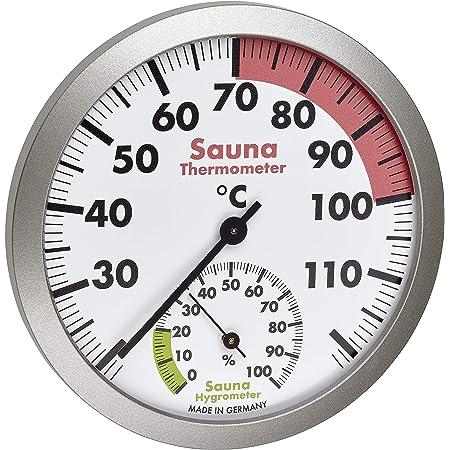 TFA Dostmann Thermomètre hygromètre analogique pour sauna - Matériaux résistants à la chaleur - Température et humidité de l'air