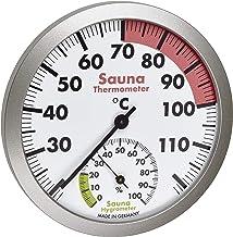 TFA Dostmann Thermomètre hygromètre analogique pour sauna - Matériaux résistants à la chaleur - Température et humidité de...