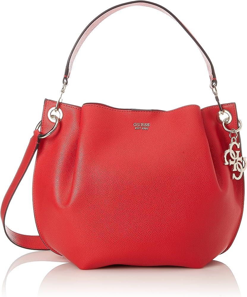 Guess digital hobo, borsa a spalla per donna,in pelle sintetica HWVG6853030
