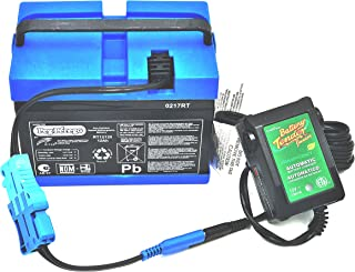 CBC Peg Perego 12 Volt Blue Battery IAKB0501 and Fully Automatic Battery Tender Quick Charger Combo Pack