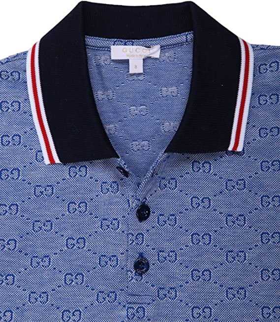 Gucci niños Polo Camisa Azul 258715 – 4054 Azul Azul 152 ...