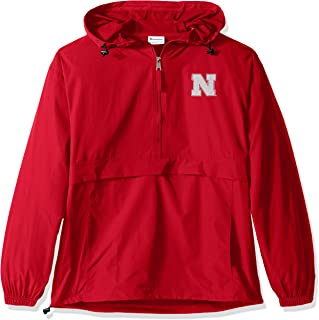 Champion NCAA Mens NCAA Men's Half Zip Front Pocket Packable Jacket
